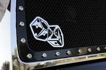 2001-2003 Mazda Protege T-Rex X-Metal The Hustler Dice Grille Badge - Chrome (5.5 x 3)