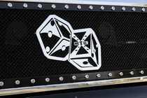 2001-2003 Mazda Protege T-Rex X-Metal The Hustler Dice Grille Badge - Chrome - (11 x 6.5)