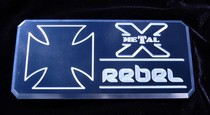 2001-2003 Mazda Protege T-Rex Rebel Series - Body Side Badges - 3 Piece - Black/Machine