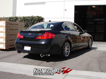 07-08 G35 Sedan, 09-10 G37 Sedan Tanabe Medalion Touring Dual Muffler Axle Back Exhaust System