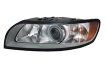 08-10 Volvo S40, 08-10 Volvo V50 TYC Headlight - Left Assembly (With Halogen Type Only)