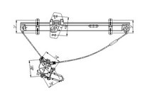 99 02 Honda Odyssey Tyc Front Window Regulator Left Embly With Cable