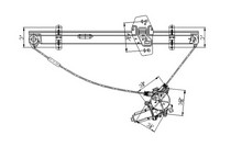 99 04 Honda Odyssey Tyc Front Window Regulator Right Embly With Cable