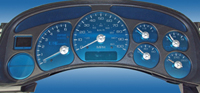 06-08 Hummer H3 US Speedo Gauge Faces - Aqua Edition