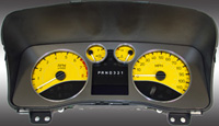 06-08 Hummer H3 US Speedo Gauge Faces - Daytona GA (Yellow)