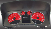 06-08 Hummer H3 US Speedo Gauge Faces - Daytona GA (Red)
