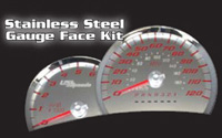 06-08 Hummer H3 US Speedo Gauge Faces - Stainless Steel SS Kit (White)