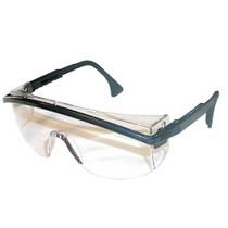 1965-1967 Ford Galaxie Uvex Astrospec 3000® Black Safety Glasses With Clear Lens