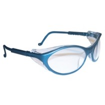 1965-1967 Ford Galaxie Uvex Bandit Slate Blue Frame Safety Glasses With Clear UD Lens
