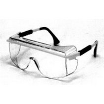 1997-2003 BMW 5_Series Uvex Safety Glasses Black Frames/Clear Lens