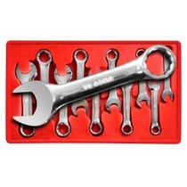 1980-1983 Honda Civic V-8 Tools 10 Piece Metric Stubby Combination Wrench Set 10mm to 19mm