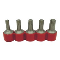 "1980-1987 Audi 4000 Vermont American 5 Piece 3/8"" Square Drive Bits Set for Torx Screw - TX40-TX55"