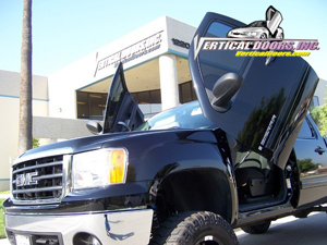 07-13 Sierra Vertical Doors Inc Lambo Doors - Direct Bolt On Kit & GMC Sierra Vertical Doors at Andy\u0027s Auto Sport