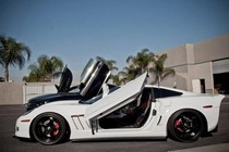 05-11 Chevrolet Corvette C6 Vertical Doors Inc Bolt-On ZLR Door Kit & Chevrolet Corvette Vertical Doors at Andy\u0027s Auto Sport