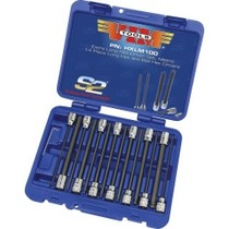 "1990-1996 Chevrolet Corsica Vim Products 14 Piece 3/8"" Square Drive SAE Extra Long Hex and Ball Hex Driver Set"