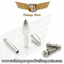 1974-1976 Mercury Cougar Vintage Reproduction Bullet Valve Cap, Door Plunger, Plate Bolt Combo Kit