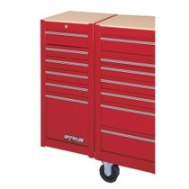 1954-1958 Plymouth Plaza Waterloo 6 Drawer Red Side Cabinet