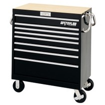 "1954-1958 Plymouth Plaza Waterloo 36"" Magnum® 8 Drawer Tool Cart - Black"