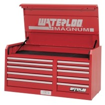 "1976-1980 Plymouth Volare Waterloo 46"" Wide Magnum® 10 Drawer Chest - Red"
