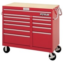 "2001-2003 Honda Civic Waterloo 46"" Wide Magnum® 12 Drawer Tool Cart - Red"