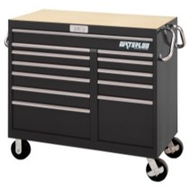 "1954-1958 Plymouth Plaza Waterloo 46"" Wide Magnum® 12 Drawer Tool Cart - Black"