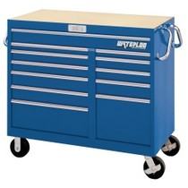 "1976-1980 Plymouth Volare Waterloo 46"" Wide Magnum® 12 Drawer Tool Cart - Blue"