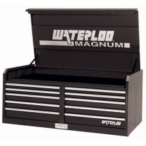 "1998-2000 Mercury Mystique Waterloo 56"" 10 Drawer Magnum Series Black Tool Chest"