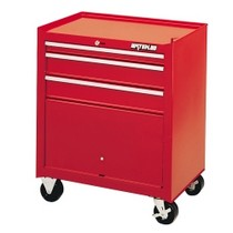 2002-2006 Harley_Davidson V-Rod Waterloo 3 Drawer Shop Series Tool Cart - Red