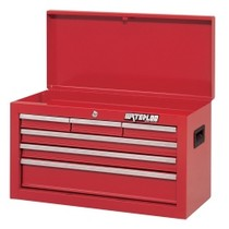 "2004-2005 Suzuki GSX-R600 Waterloo 26"" Shop Series 6 Drawer Tool Chest - Red"