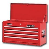 1998-2000 Mercury Mystique Waterloo 26 in. 4 Drawer Ball Bearing Chest, Red
