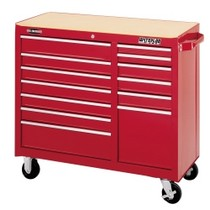 "1964-1967 Chevrolet El_Camino Waterloo 40"" ProMaxx 13 Drawer Cabinet - Red"