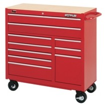 "1964-1967 Chevrolet El_Camino Waterloo 40"" Traxx® 10 Drawer Tool Cabinet - Red"