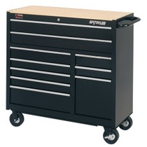 "1964-1967 Chevrolet El_Camino Waterloo 40"" Traxx® 10 Drawer Tool Cabinet - Black"