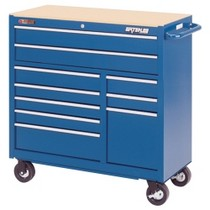 "1964-1967 Chevrolet El_Camino Waterloo 40"" Traxx® 10 Drawer Tool Cabinet - Blue"