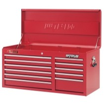 "1964-1967 Chevrolet El_Camino Waterloo 40"" Traxx® 11 Drawer Tool Chest - Red"