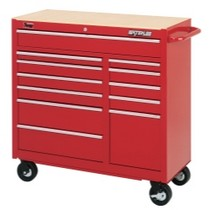 "1964-1967 Chevrolet El_Camino Waterloo 40"" Traxx® 12 Drawer Tool Cart - Red"