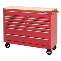 "1964-1967 Chevrolet El_Camino Waterloo 52"" Traxx® 13 Drawer Tool Cart - Red"