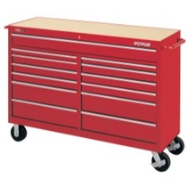 "1964-1967 Chevrolet El_Camino Waterloo 60"" Traxx® 13 Drawer Tool Cart - Red"