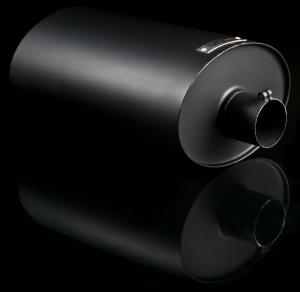 "Universal for all cars Weapon R Black Muffler - 9.25"" X 6.5"" X 14"" , 2.5"" X 2.5"""
