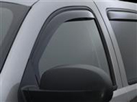 2006-2011 Hummer H3 Weathertech Rear Window Deflectors - Rear (Dark Smoke)