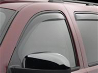 2006-2011 Hummer H3 Weathertech Rear Window Deflectors - Rear (Light Smoke)