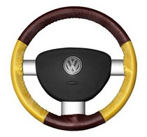 FOR TOYOTA LAND CRUISER 80 89-97 BLACK REAL LEATHER STEERING WHEEL COVER WHITE