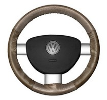 FOR TOYOTA LAND CRUISER 80 LEATHER STEERING WHEEL COVER 89 BROWN DOUBLE STITCH