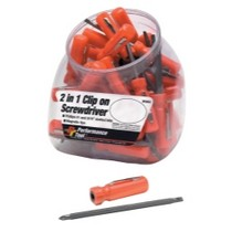 2000-2006 Kawasaki Ninja_ZX-12R WILMAR 30 Piece 2 in 1 Screwdriver Fish Bowl Merchandiser