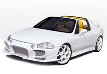Fit for 93-95 Honda Del Sol JDM Type-R PU Urethane Front Bumper Lip