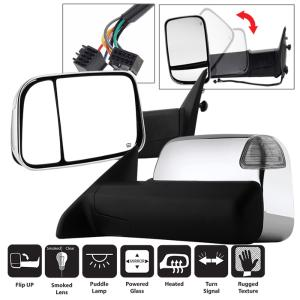 Fits 02-08 Dodge Pickup 1500 03-09 2500//3500 Right Pass Manual Mirror