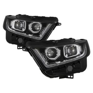 Ford Edge   Fit Halogen Model Xtune Led Projector Headlights Chrome