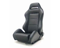 2004-2005 Honda Civic Yonaka Racing Seats - Ronin Leather (Black w/ Black Stiching)