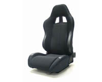 2002-2004 Acura Rsx Yonaka Racing Seats - Samurai Cloth (Black)