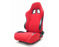 1953-1975 Chevrolet Bel_Air Yonaka Racing Seats - Samurai Cloth (Red)